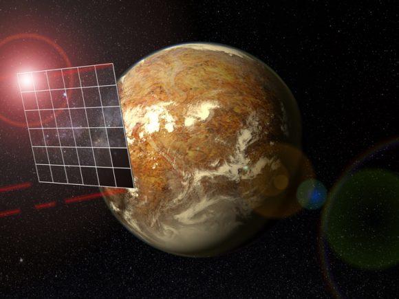 Una vela láser se acerca a Próxima b (Max Planck Institute).