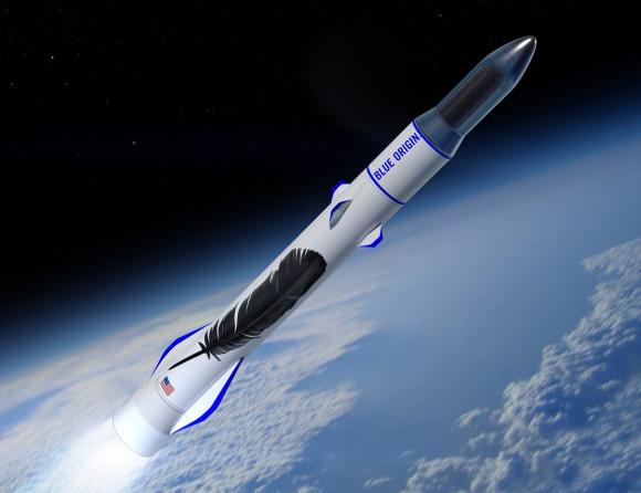 Lanzador New Glenn de Blue Origin (Blue Origin).