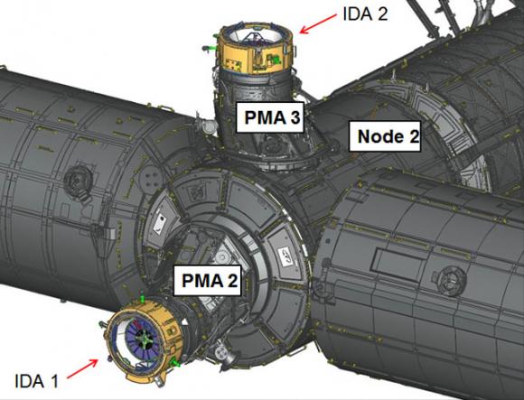Posición final del PMA-3 (NASA).