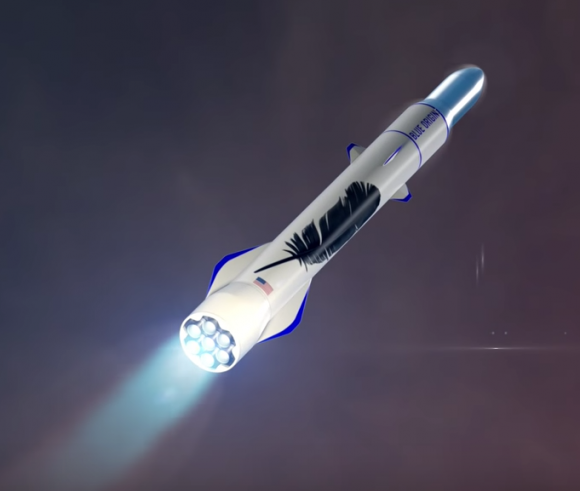 El New Glenn usará 7 motores BE-4 en la primera etapa (Blue Origin).