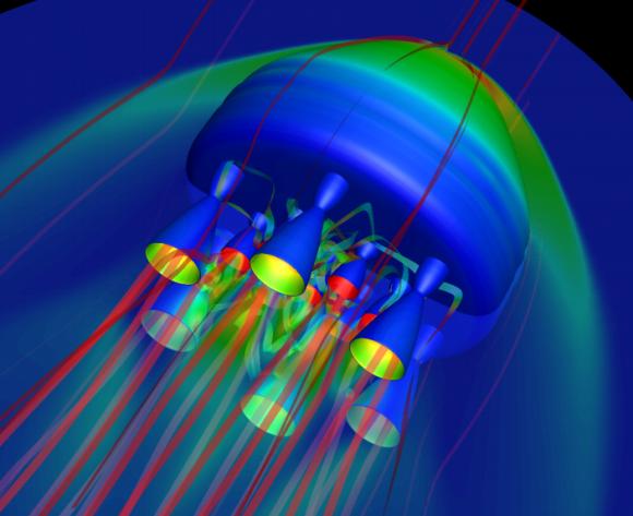 Simulación del lanzamiento de un Bloostar (Zero 2 Infinity).