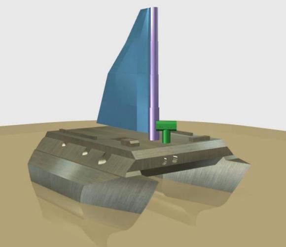 Propuesta de diseño de un barco a vela para Titán (William O'Hara).