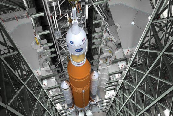 El nuevo presupuesto insiste en que se use el SLS y la Orión para ir a Marte a partir de 2030 (NASA).