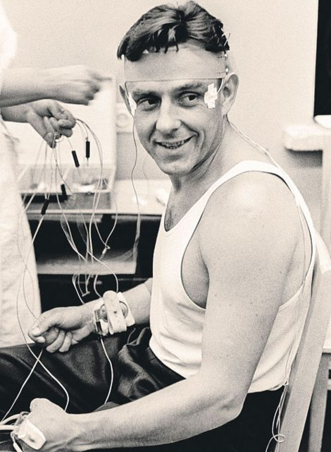 Komarov durante un entrenamiento.