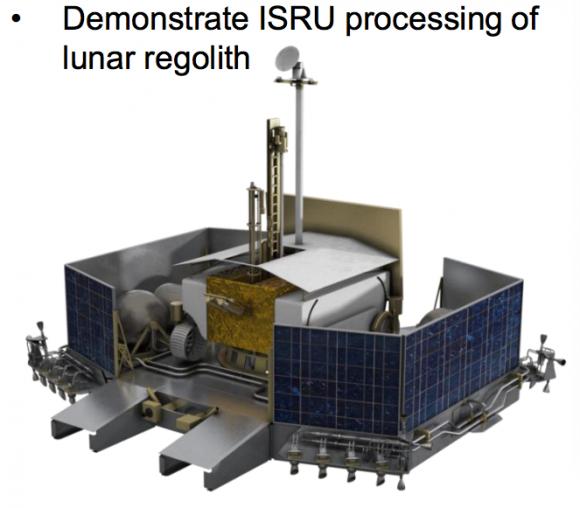 Original sistema de aterrizaje de Resource Prospector (NASA).