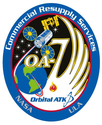 Emblema de la misión OA-7 (NASA).