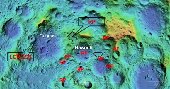 Zona de aterrizaje de Resource Prospector (NASA).