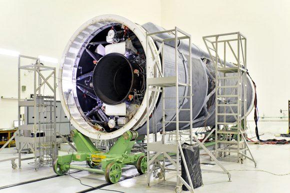 Tercera etapa criogénica CUS de esta misión (ISRO).
