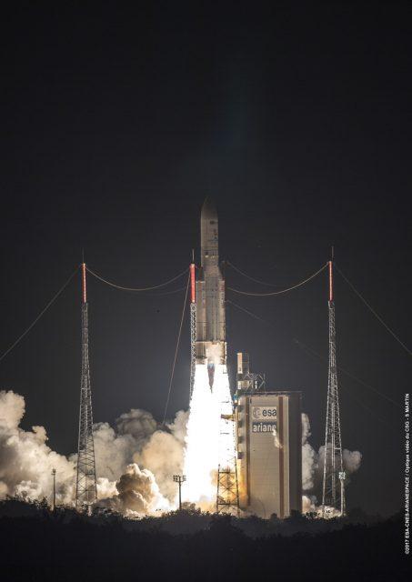 Lanzamiento de la misión VA236, la 92ª de un Ariane 5 (Arianespace).