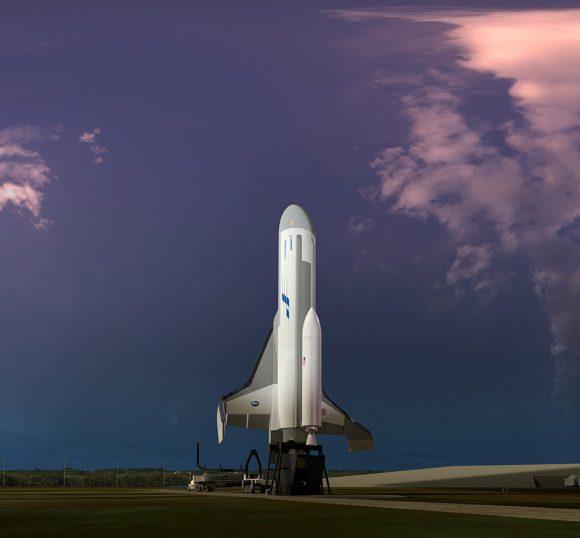 XS-1 en la rampa (DARPA).