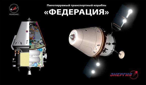 Futura nave tripulada rusa Federatsia (Roscosmos).