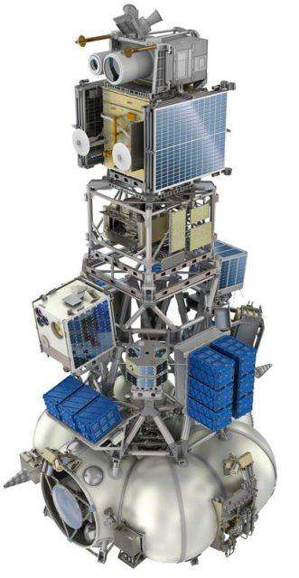 Otra vista de la configuración de lanzamiento (Roscosmos).
