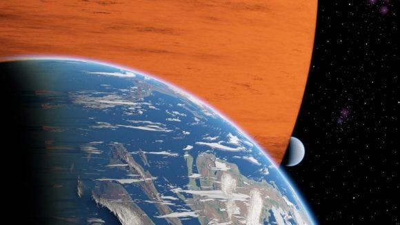 Una exoluna de tamaño terrestre alrededor de un planeta gigante (René Heller/AIP).