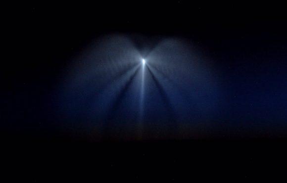 El lanzamiento de la Soyuz MS-05 visto desde la ISS (NASA).