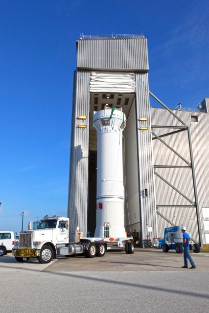 TDRS-M Atlas V Second Stage Centaur Transport from DOC to VIF
