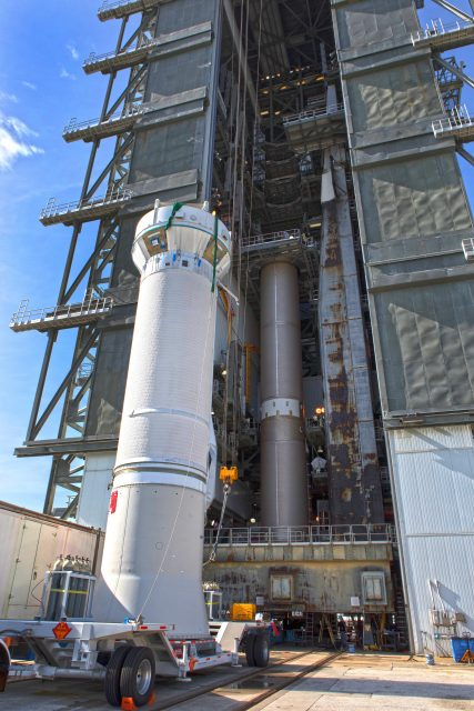 TDRS-M Atlas V Second Stage Centaur Off-Site Vertical Integratio