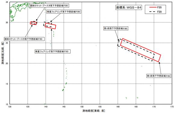 Zona de caída de las etapas (JAXA),
