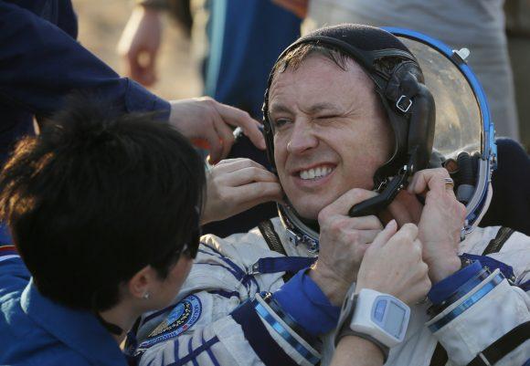 Landing of the Soyuz capsule in Kazakhstan