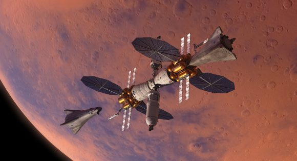 Dos MADV acoplados al Mars Base Camp (Lockheed-Martin).