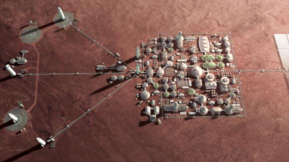 No, no es un juego de estrategia, es la base marciana (SpaceX).