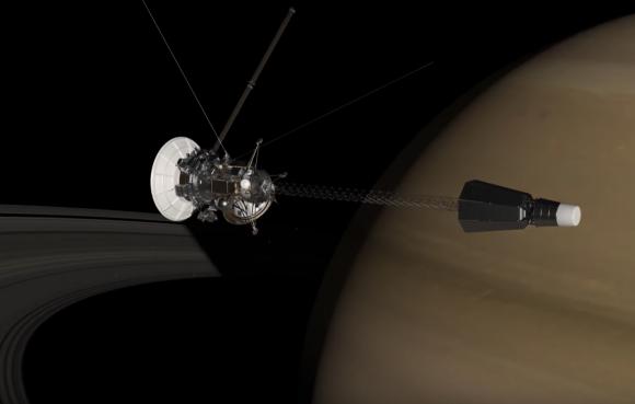Concepto de sonda nuclear para estudiar Saturno (NASA).
