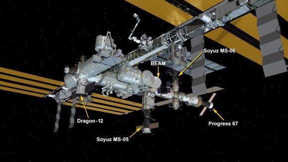 Naves actualmente acopladas a la ISS (NASA).