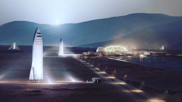 Base marciana de SpaceX (SpaceX).