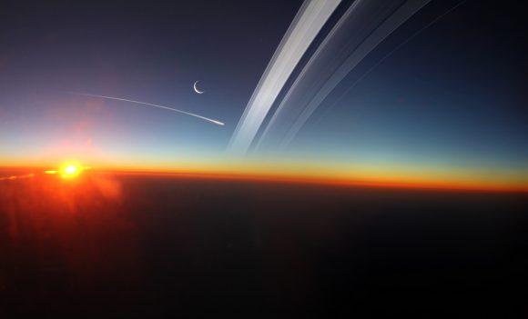 Los últimos momentos de Cassini (Kevin M. Gill).