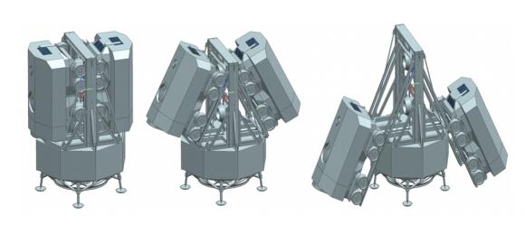Un aterrizador con los dos rovers (ESA).