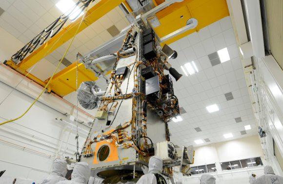 JPSS durante la construcción (NASA/NOAA).