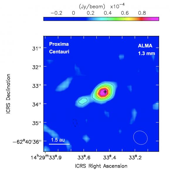 Esto es lo que realmente a observado ALMA (ESO).