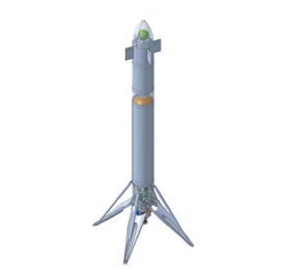 Demostrador de aterrizaje vertical francés Callisto (CNES).