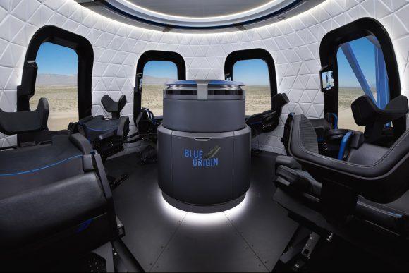 Diseño de la cápsula para turistas (Blue Origin).