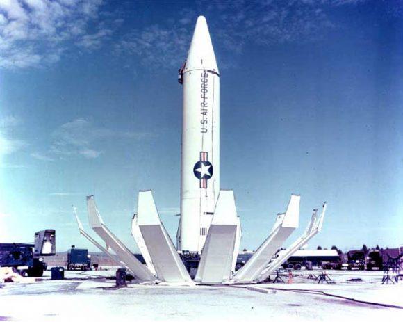 Misil de alcance medio Júpiter, diseñado por el equipo de von Braun (Wikipedia).