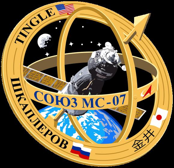 Emblema de la Soyuz MS-07 (Roscosmos).