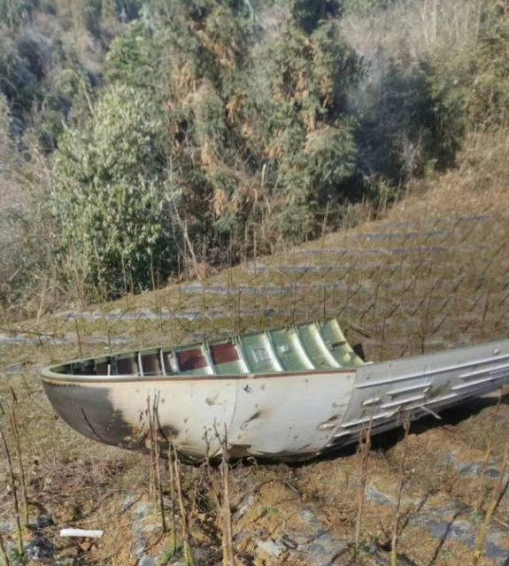 Restos de la cofia en un huerto (http://www.spaceflightfans.cn/).