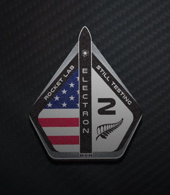 Emblema de la misión (Rocket Lab).