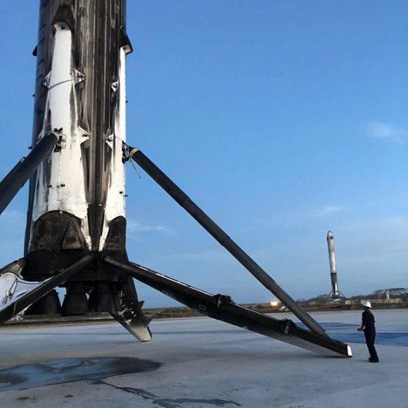 Inspeccionando las etapas después del aterrizaje (SpaceX).