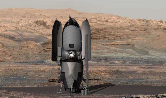Explorando la superficie de Marte (TransAstra).