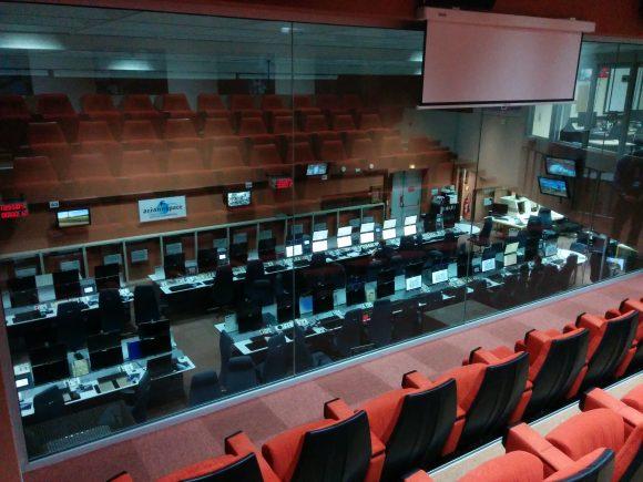 """""""Verdadero"""" centro de control del Ariane 5 en el edificio CDL-3 (Wikipedia)."""