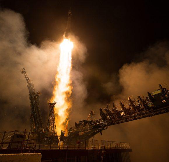 Lanzamiento de la Soyuz MS-08 (NASA).