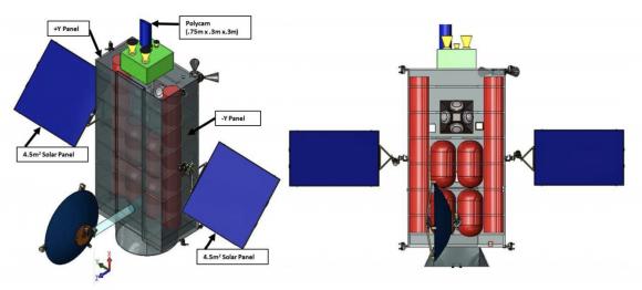 Sonda HAMMER para desviar asteroides (NASA/NNSA).
