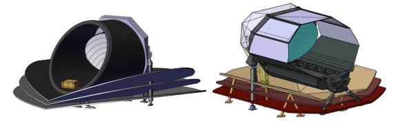 Diseños alternativos del módulo con la óptica (ESA).