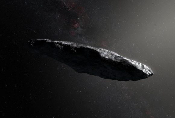 Una de las posibles formas de 'Oumuamua de acuerdo con los datos del ESO (ESO).