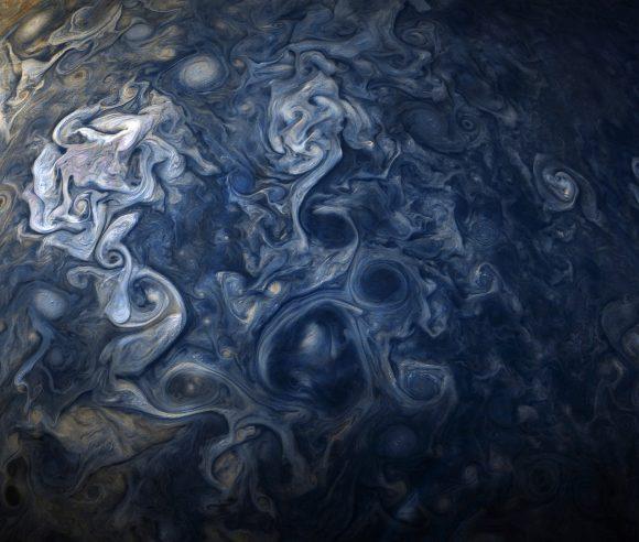 Preciosa imagen de Júpiter tomada por JunoCam el 24 de octubre de 2017 ( NASA/JPL-Caltech/SwRI/MSSS/Gerald Eichstädt/ Seán Doran).