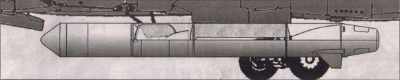 Misil soviético antisatélite Kontakt.