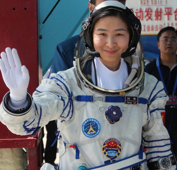 Liu Yang, la primera mujer astronauta china, vivió a bordo de la Tiangong 1 en 2012 (Xinhua).