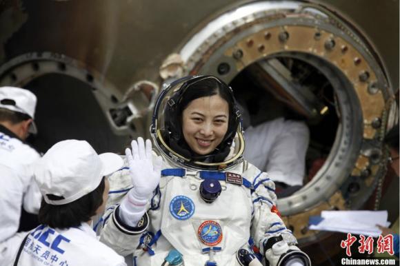Wang Yaping, la segunda mujer astronauta china, también vivió en la Tiangong 1 (Xinhua).