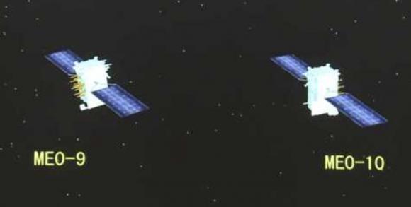Satélites Beidou-3 MEO (Xinhua).