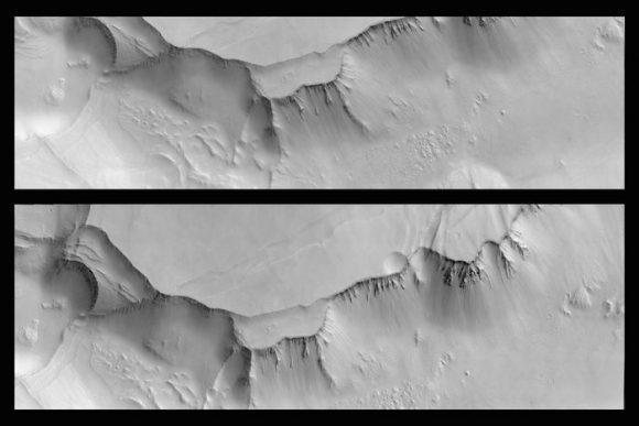 Imagen de Noctis Labirybthus tomada por la cámara CaSSIS en marzo de 2017 (ESA/Roscosmos/CaSSIS).